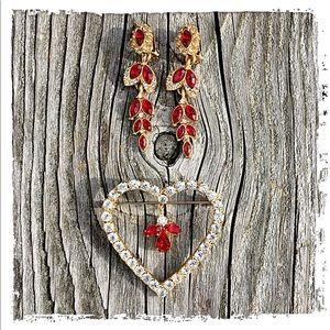 Vintage Jewelry - Clip-On Earring & Brooch Bundle! EVC!