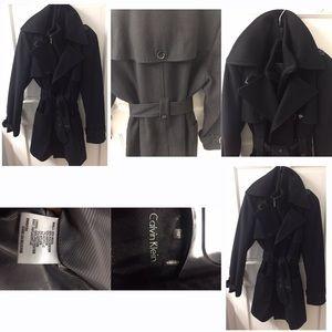 Women's wool Calvin Klein Black peacoat