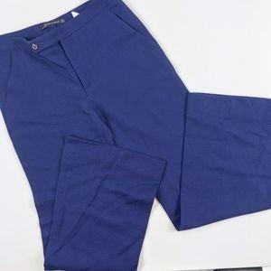 Zara Deep Blue Wide Leg Wool Work Casual Pants