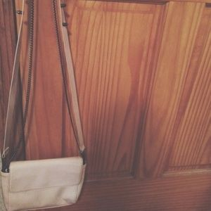 Zara Nude Crossbody Bag With Two Adjustable Straps