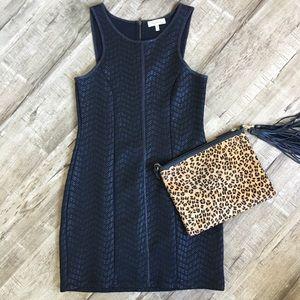 Monteau Black body-con textures mini dress EUC LBD