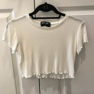 Nasty gal crop top with frilly hem