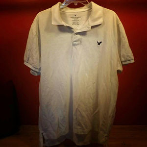 White American Eagle Outfitters Polo XXL for Men