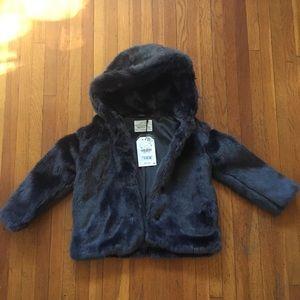 NWT Zara girl's fur coat