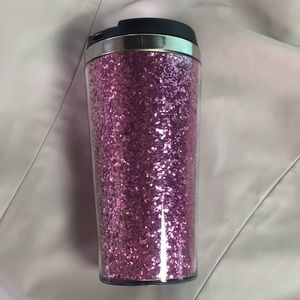 Other - ‼️S A L E‼️ Pink Glitter Double Wall Cup