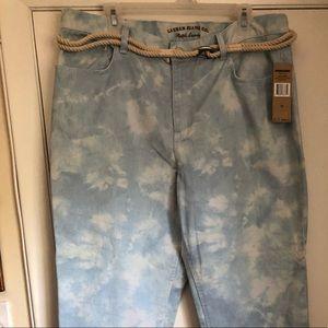 NWT Ralph Lauren acid washed gorgeous jeans sz 16