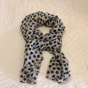 Black and Tan polka dot scarf