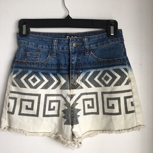 Nasty gal High-rise denim shorts size 2
