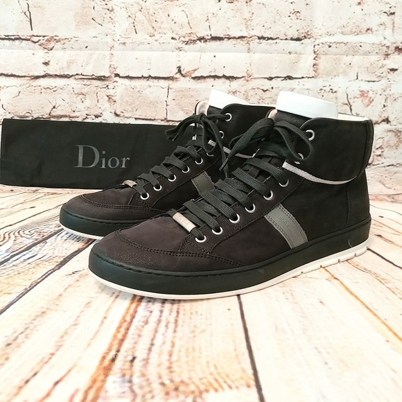 Dior Homme Mens High top Sneakers Black   Gray 4f68bca72