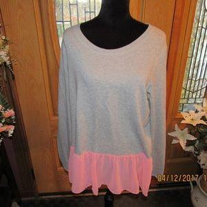Tops - JB291. Cute Gray Fleece Top. Size L/XL