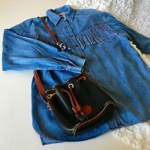 Vintage fringe denim shirt