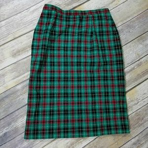 pendleton 100% wool long skirt size 12
