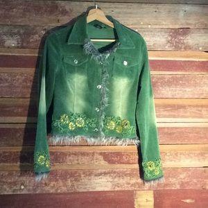 Kaity embellished corduroy jacket