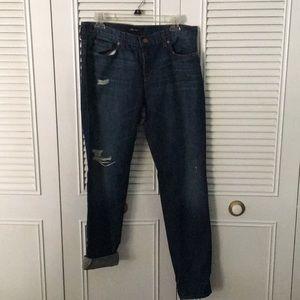NWOT distressed J Brand boyfriend jeans