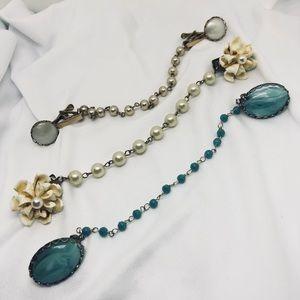 Vintage Jewelry - 🆕Vintage Sweater Clip Trio