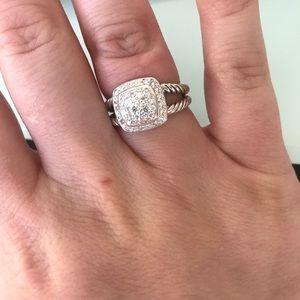 david yurman pave diamond petite albion ring