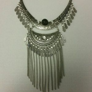 Tribal Statement Fringes Necklace