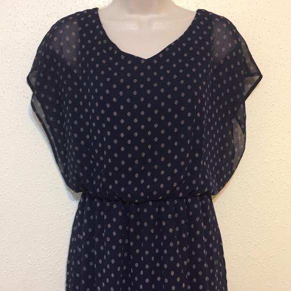 b7d56b5497f5 Lush Dresses   Skirts - Lush Blue Polka Dot Batwing Dress