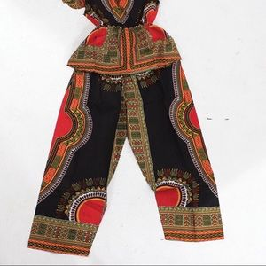 Other - Traditional Print Blouse & Pant set