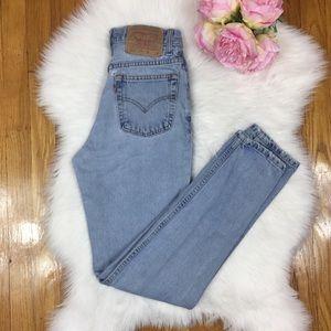 Vintage Jeans - 🚫SOLD🚫🌸Vtg 512 Light Wash Levis 24🌸