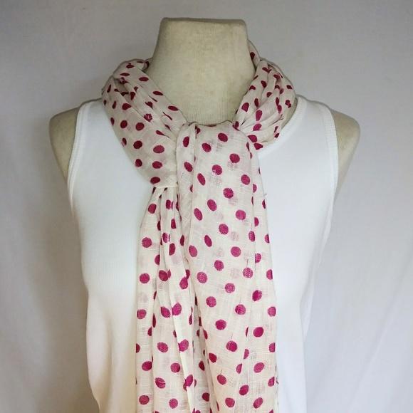 Vintage Accessories - #hundredsofscarves: HOT Pink Polka Dot Scarf