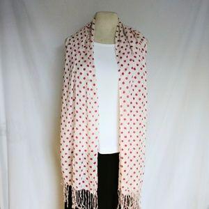 Vintage Accessories - HOT Pink Polka Dot Scarf #hundredsofscarves