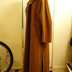 Vintage Jackets & Coats - VINTAGE Alpaca Maxi Coat in Tan