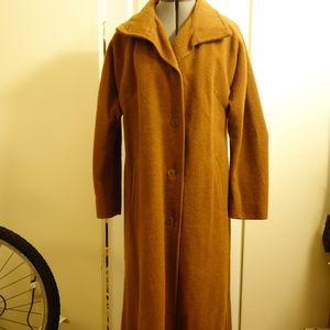 VINTAGE Alpaca Maxi Coat in Tan