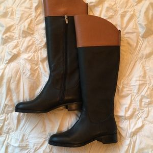Brand new leather H by Halston boots!