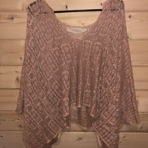 Jen's Pirate Booty Galactic Poncho Top in Salmon