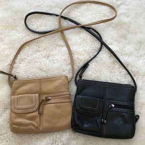 2 Tignanello Leather Crossbody Bags
