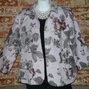 Dressy Lilac Floral Blazer Jacket 12