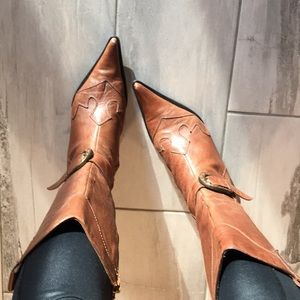 LEATHER BOOTS BY STEVEN~SZ 8