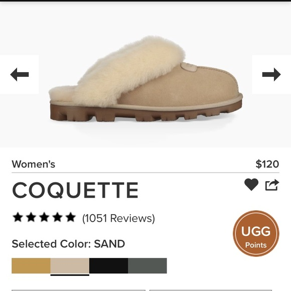 09ceabf12c0 Ugg Coquette women's slippers sand color size 8