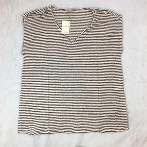 Lucky Brand Striped Linen Top