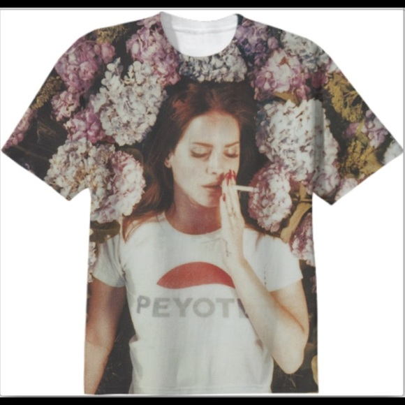 fe4616eca lana del rey Tops - Lana Del Rey peyote flower all over print tee MED