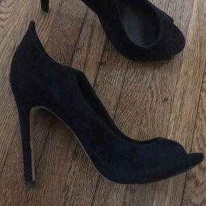 Dove vita black suede heels