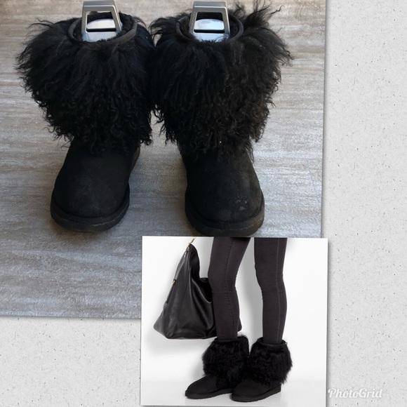 black sheepskin uggs