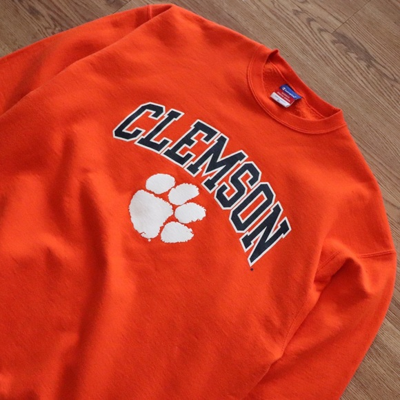 Champion Shirts Vintage Clemson Tigers Sweatshirt Poshmark