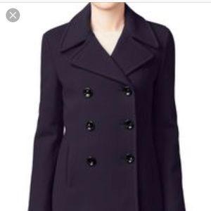 Calvin Klein purple pea coat