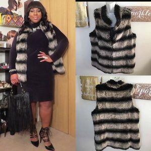 Rachel Zoe Luxe Faux Fur Vest