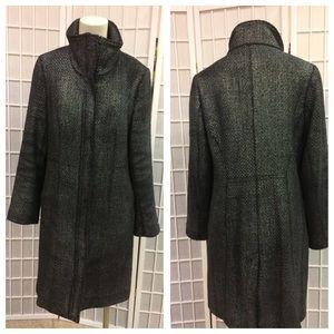 Calvin Klein woman coat gray silver size 8 winter