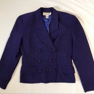 Christian Dior double breasted blazer suit jacket