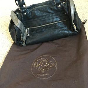 Rebecca minkoff black leather sachet handbag
