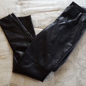 H&M faux leather leggings sz. 8 NWT