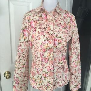 Moschino Floral Military Tailored Jacket