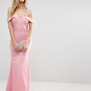ASOS Petite Pale Pink Prom Dress
