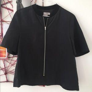 Asos zip up blouse
