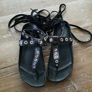 Zara lace up sandals. Isabel Marant inspired.