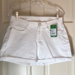 Lilly Pulitzer White Jean South Ocean Short Size 8